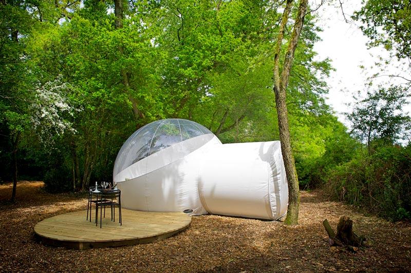 bulle royale dormir dans une bulle du c t de nantes. Black Bedroom Furniture Sets. Home Design Ideas