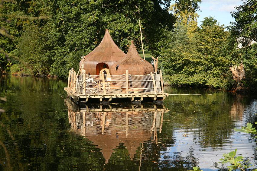 cabanes flottantes du domaine des ormes