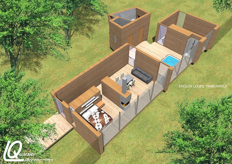 dormir avec les loups parc animalier de sainte croix hotels. Black Bedroom Furniture Sets. Home Design Ideas