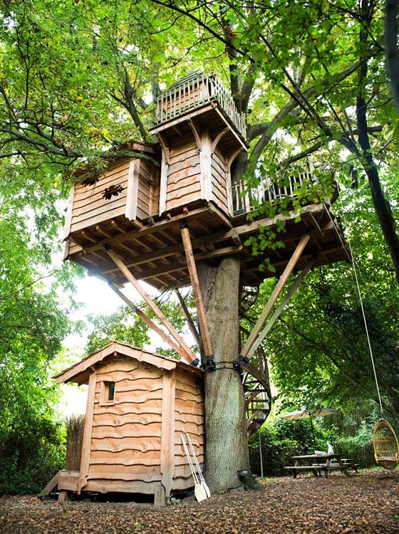 Les cabanes du moulin de busserolles dormir dans les for Hotel romantique region parisienne