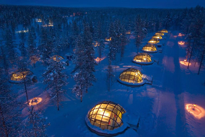 igloo village hotel kakslauttanen dormir dans un igloo. Black Bedroom Furniture Sets. Home Design Ideas