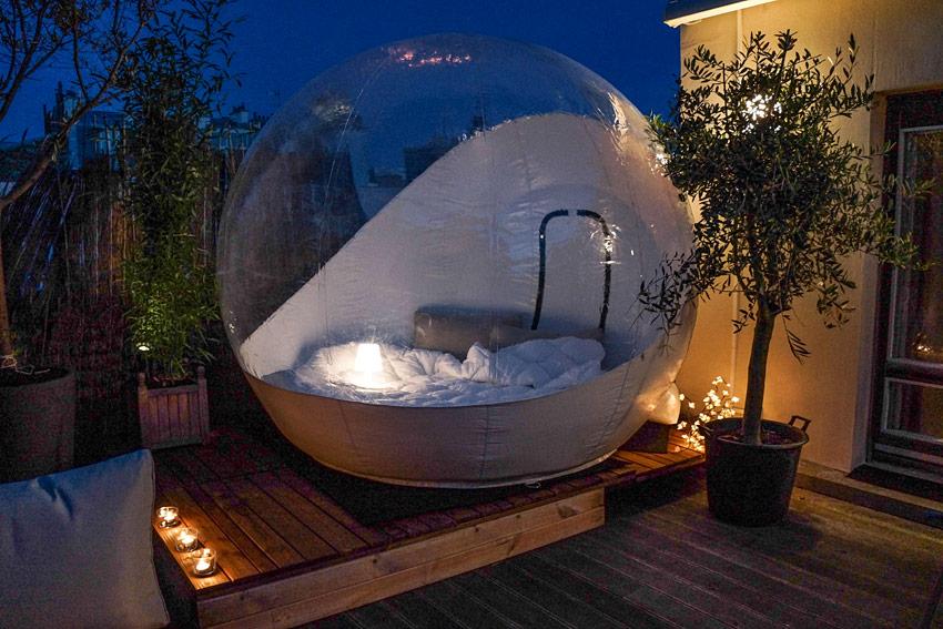 bulles et une nuit une nuit dans une bulle bulles et une nuit cabane bulles et roulottes. Black Bedroom Furniture Sets. Home Design Ideas