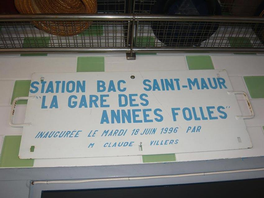 La gare des ann es folles station bac saint maur - La gare des annees folles ...