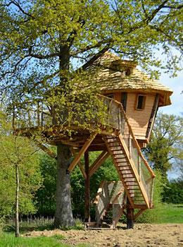 la chouette cabane cabane sur pilotis perch e dans les arbres hotels. Black Bedroom Furniture Sets. Home Design Ideas
