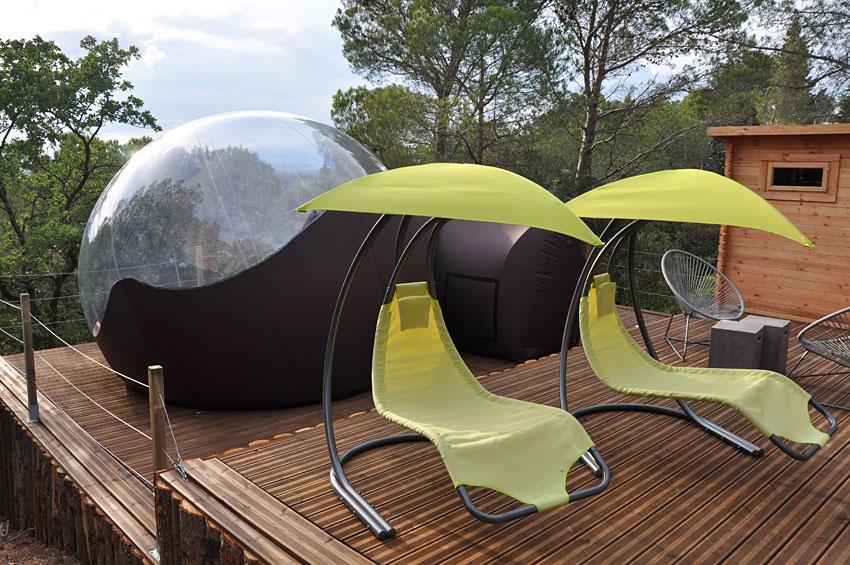 les perles de malau dormir dans une bulle au pays cathare. Black Bedroom Furniture Sets. Home Design Ideas