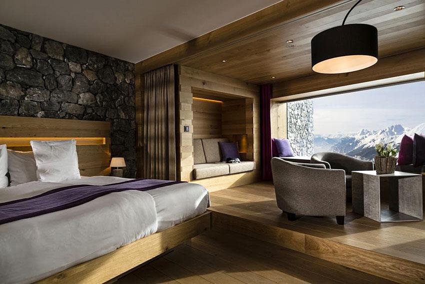 Chetzeron hotel design crans montana for Hotel design valais