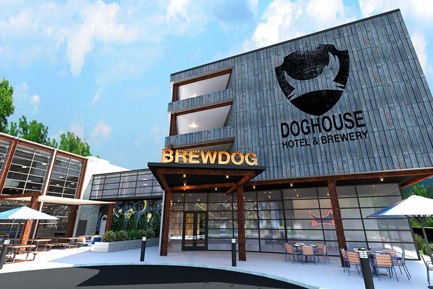 The doghouse projet insolite de la brasserie brewdog for Hotels insolites